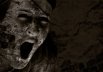Крик ужаса. (Код изображения: 22011)