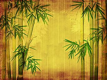 Бумага с бамбуком. (Код изображения: 22016)