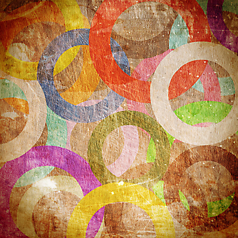 Круги на стене. (Код изображения: 22025)