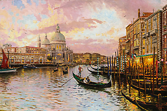 Томас Кинкейд (Tomas Kinkade) - Венеция (Venice). (Код изображения: 24012)
