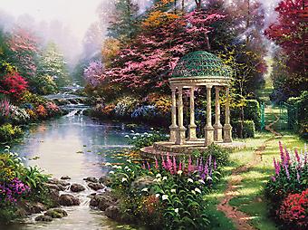 Томас Кинкейд (Tomas Kinkade) - Сад желаний (The Garden Of Prayer). (Код изображения: 24018)