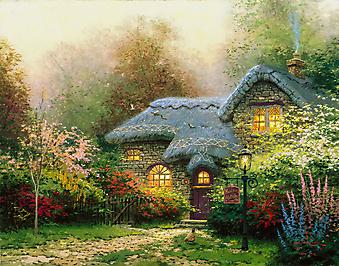 Томас Кинкейд (Tomas Kinkade) - Вересковый домик (Heather's Hutch). (Код изображения: 24028)