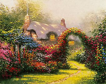 Томас Кинкейд (Tomas Kinkade) - Великолепие утра (Glory Of Morning). (Код изображения: 24032)
