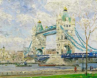 Томас Кинкейд (Tomas Kinkade) - Тауэрский мост, Лондон (Tower Bridge, London). (Код изображения: 24034)