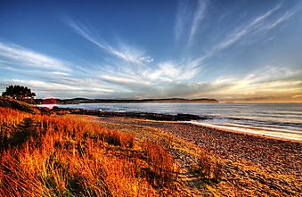 Закат на пляже. (Код изображения: 04005)