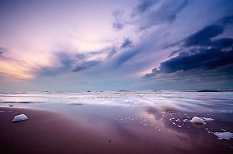 Ночной океан. (Код изображения: 04008)