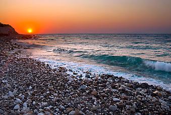 Закат на Средиземном море. (Код изображения: 04025)