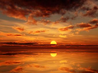 Красивый закат. (Код изображения: 04031)