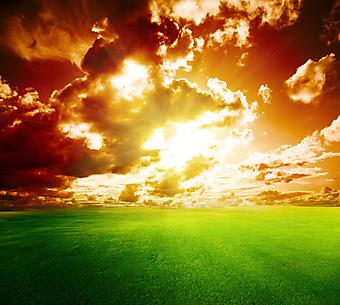 Великолепный закат. (Код изображения: 04036)