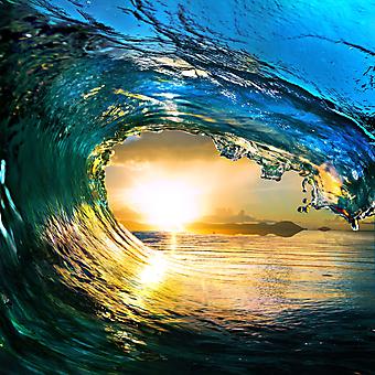 Океанская волна на закате. (Код изображения: 04050)