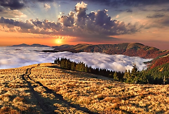 Рассвет в осенних горах (Каталог номер: 04085)