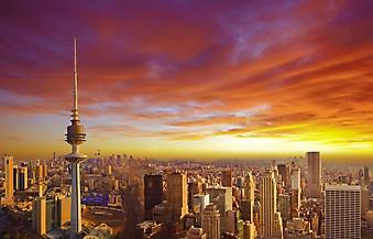 Закат над современным городом (Каталог номер: 04098)