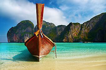 Тропический пляж, Тайланд. (Код изображения: 05027)