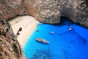 Бухта в Закинтос, Греция. (Код изображения: 05034)