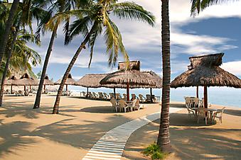 Тропический пляж. (Код изображения: 05035)