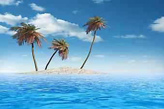 Экзотический остров. (Код изображения: 05036)