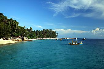 Тропический остров, Малайзия. (Код изображения: 05040)