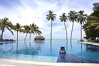 Бассейн, Мальдивские острова. (Код изображения: 05046)