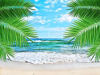 Морской пейзаж. (Код изображения: 05061)