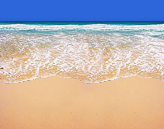 Солнечный пляж. (Код изображения: 05068)