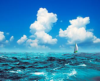 Морской пейзаж. (Код изображения: 05070)