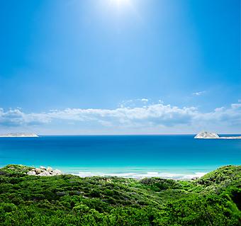 Великолепный пляж. (Код изображения: 05075)