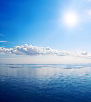 Красивое море и облака. (Код изображения: 05078)