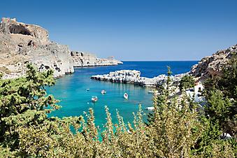 Лазурная бухта. Остров Родос. Греция. (Каталог номер: 05085)