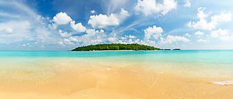 Панорама тропического острова. (Код изображения: 05091)