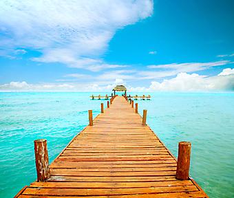 Пристань в океан. Канкун. Мексика. (Код изображения: 05105)