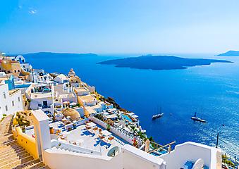 Вид на море и остров. Греция (Каталог номер: 05111)