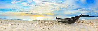 Старая лодка на пляже (Каталог номер: 05126)
