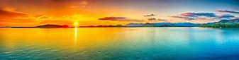 Панорамное изображение заката над морем (Каталог номер: 05146)