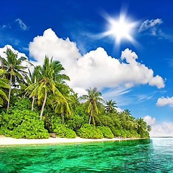 Райский уголок с лазурной водой (Каталог номер: 05154)