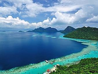 Панорамный вид на море с острова Сабах ...: www.fotonastenu.ru/more-i-plyazh-4
