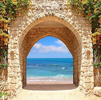 Вид на море через каменную арку (Каталог номер: 05173)