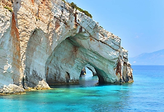 Голубая пещера острова Закинтос, Греция (Каталог номер: 05174)