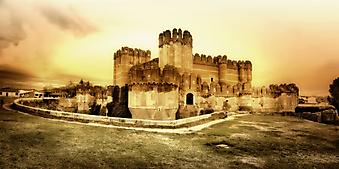 Средневековый замок Испании. (Код изображения: 08001)