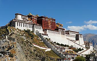 Дворец Потала, Тибет. (Код изображения: 08002)