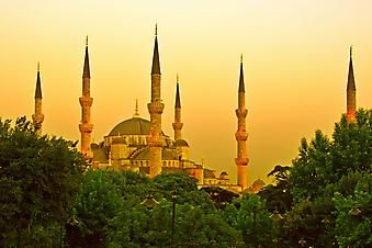 Мечеть в Стамбуле. (Код изображения: 08016)