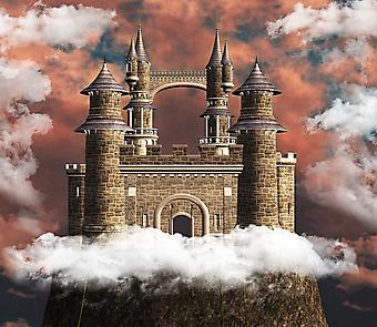 Замок на холме. (Код изображения: 08031)