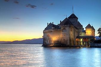 Шильонский замок ночью (Каталог номер: 08057)