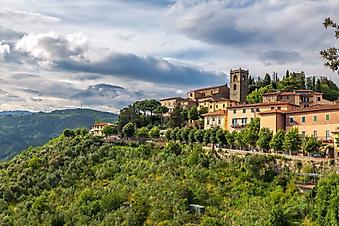 Крепость на вершине горы, Италия (Каталог номер: 08064)