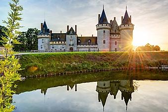 Закат над замком Сюлли-сюр-Луар, Франция (Каталог номер: 08077)